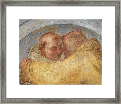 The Meeting Of St Francis And St Dominic  Framed Print by Fra Bartolommeo