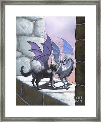 The Meeting Framed Print by Stanley Morrison