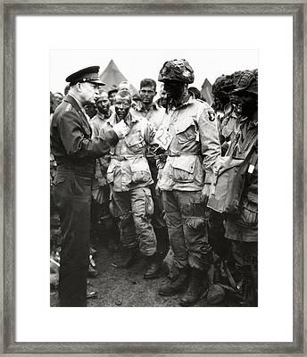 The Men Of Company E Of The 502nd Parachute Infantry Regiment Before D Day Framed Print by American School