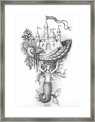 The Mermaid Fantasy Framed Print by Adam Zebediah Joseph