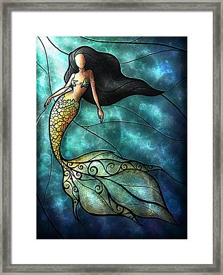 The Mermaid Framed Print by Mandie Manzano