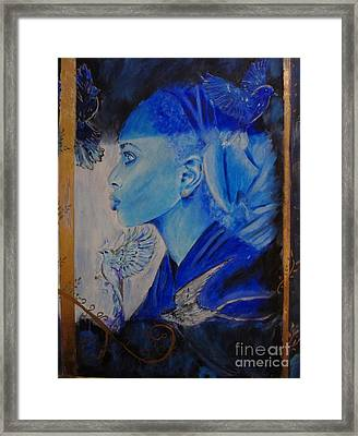The Message Framed Print by Victoria Rosenfield