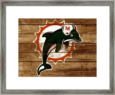 The Miami Dolphins 3a      Framed Print by Brian Reaves