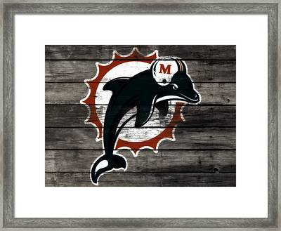 The Miami Dolphins 3b      Framed Print by Brian Reaves