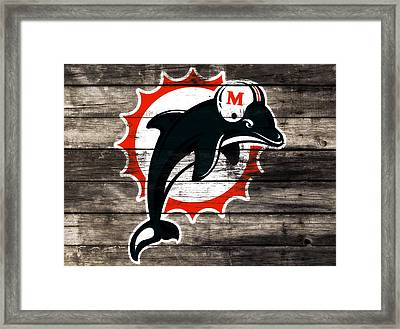 The Miami Dolphins 3c      Framed Print by Brian Reaves