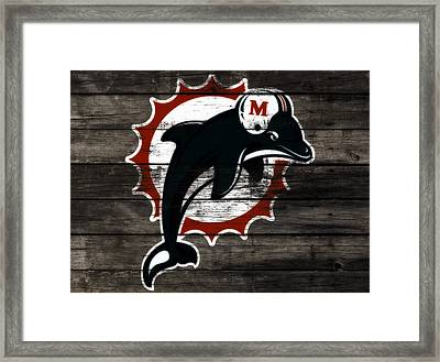 The Miami Dolphins 3f      Framed Print by Brian Reaves