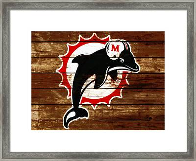 The Miami Dolphins 4c      Framed Print by Brian Reaves