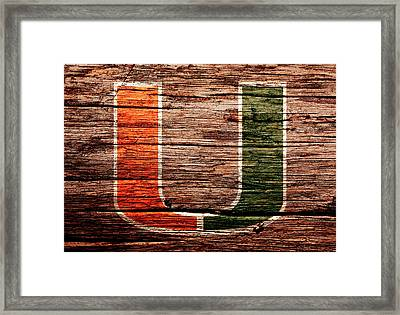 The Miami Hurricanes 1a Framed Print by Brian Reaves
