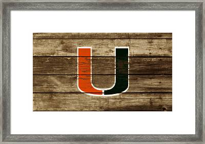 The Miami Hurricanes 3a       Framed Print by Brian Reaves