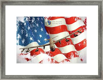 The Mighty B-52 Framed Print by Peter Chilelli