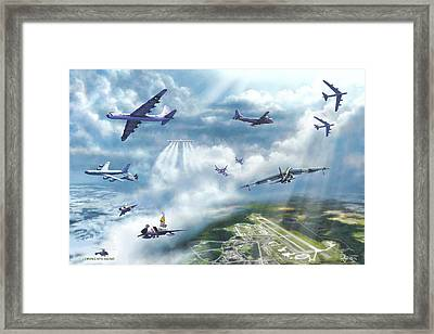 The Mighty Loring A F B Framed Print by Dave Luebbert