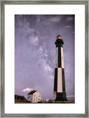The Milky Way Over Cape Henry Framed Print by JC Findley