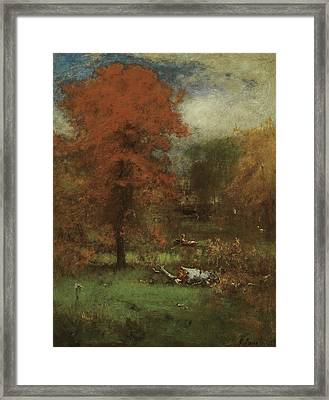 The Mill Pond Framed Print by George Inness