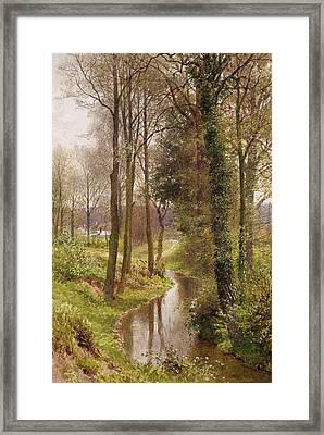 The Mill Stream Framed Print by Henry Sutton Palmer