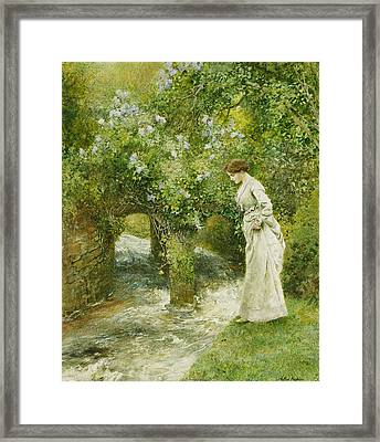 The Mill Stream In Spring Framed Print by Arthur Hopkins