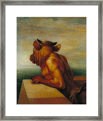The Minotaur Framed Print by George Frederic Watts
