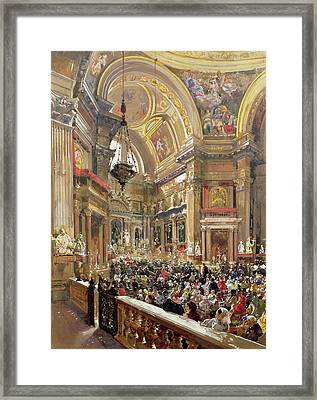 The Miracle Of The Liquefaction Of The Blood Of Saint Januarius Framed Print by Giacinto Gigante