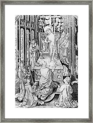 The Miracle Of Transubstantiation Framed Print by German School