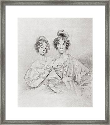 The Misses Catherine And Mary Glynne Framed Print by Vintage Design Pics