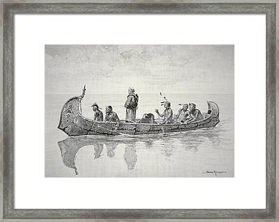 The Missionary Framed Print by Frederic Remington
