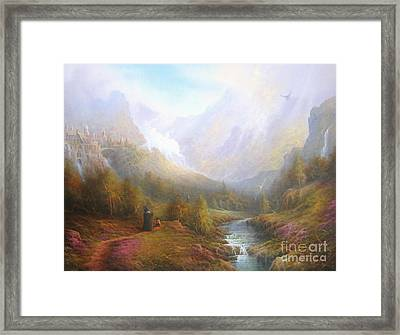 The Misty Mountains Framed Print by Joe  Gilronan