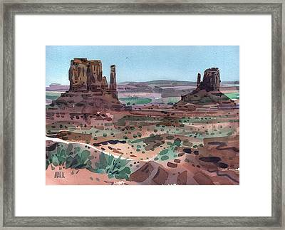 The Mittens Framed Print by Donald Maier
