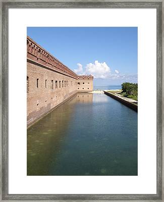 The Moat Framed Print by Barry Fineberg