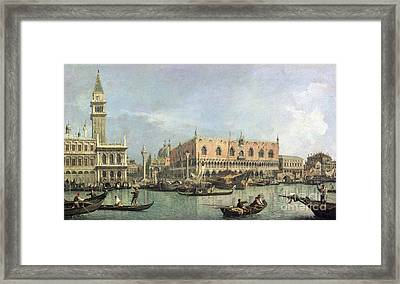 The Molo And The Piazzetta San Marco Framed Print by Canaletto