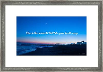 The Moments Framed Print by Boni Drake