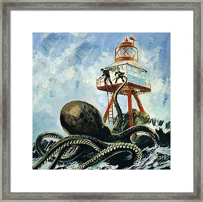 The Monster Of Serrana Cay Framed Print by Graham Coton