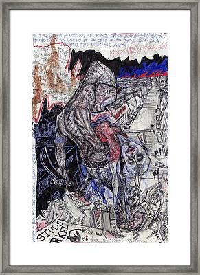 The Monster Rages Framed Print by Casanova Frankenstein
