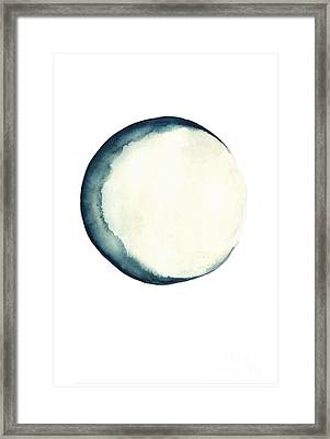 The Moon Watercolor Poster Framed Print by Joanna Szmerdt
