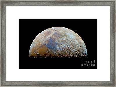 The Moon With The Transient Lunar-x Framed Print by Luis Argerich