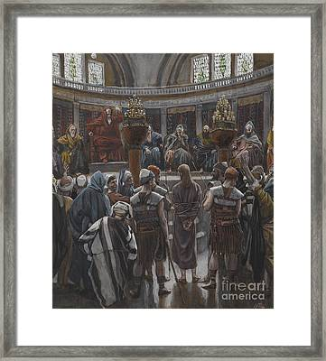 The Morning Judgement Framed Print by Tissot