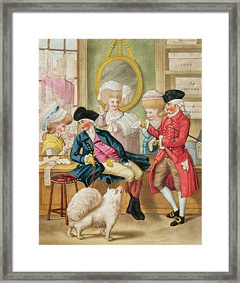 The Morning Ramble Or The Milliners Shop Framed Print by Robert Dighton