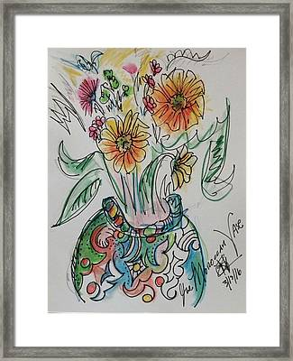 The Moroccan Vase Framed Print by Regina Adraoui