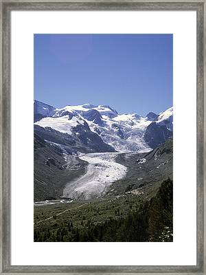 The Morteratsch Glacier Till Framed Print by Taylor S. Kennedy