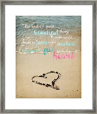 The Most Beautiful Things Framed Print by Lisa Russo