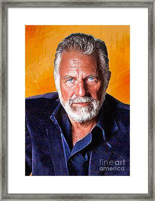 The Most Interesting Man In The World II Framed Print by Debora Cardaci