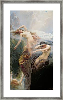 The Mountain Mists Framed Print by Herbert James Draper