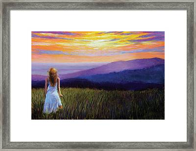 The Mountain Queen Page 4 Framed Print by Susan Jenkins