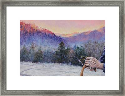 The Mountain Queen Page 7 Framed Print by Susan Jenkins