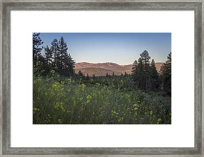 The Mountains Are Calling Framed Print by Jeremy Jensen
