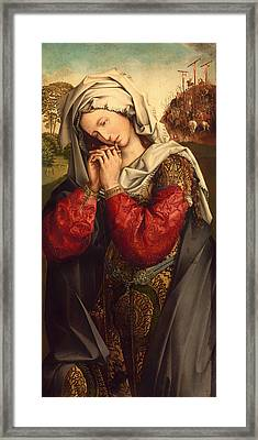 The Mourning Mary Magdalene Framed Print by Mountain Dreams