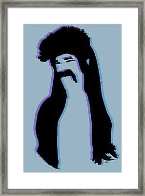 The Mullet Blue Framed Print by Tony Rubino