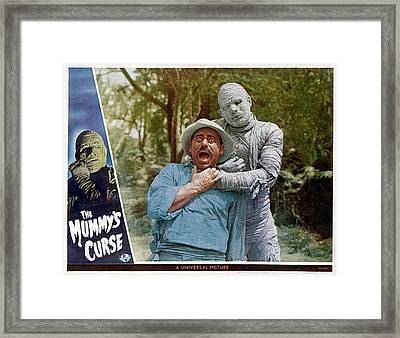 The Mummys Curse, From Left Kurt Katch Framed Print by Everett