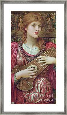 The Music Faintly Falling Dies Away Framed Print by John Melhuish Strudwick