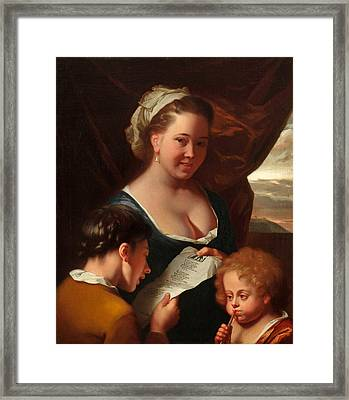 The Music Lesson Framed Print by Godfried Schalcken