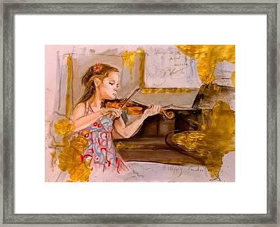 The Music Of Silence Framed Print by Agnes V