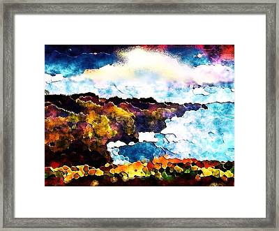 The Musical Drama Of The Ocean Framed Print by Christine Mulgrew